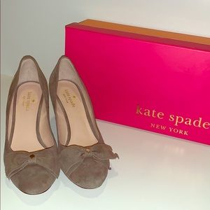 Kate Spade: Whitlee Portabella Suede Leather Wedge